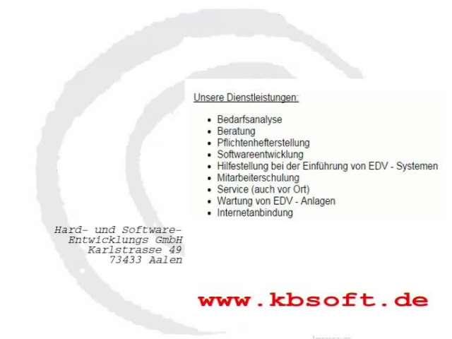 Video 1 KB Soft Hard- & Softwareentwicklungs GmbH
