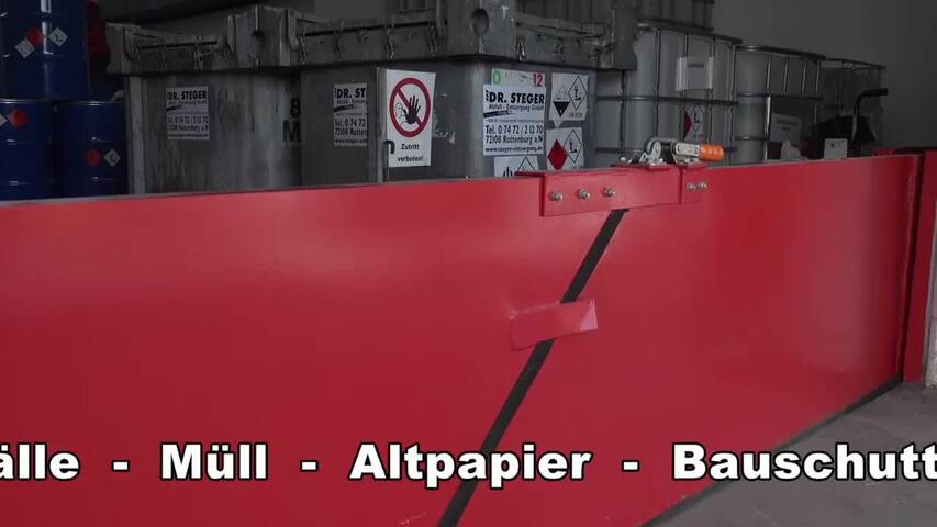 Video 1 Abfall-Container Dr. Steger GmbH Sonderabfall-Entsorgung