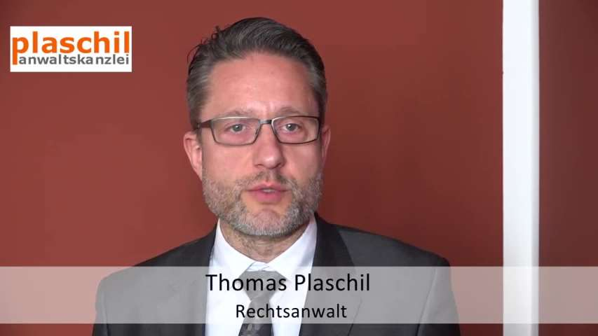 Video 1 Anwaltskanzlei Thomas Plaschil