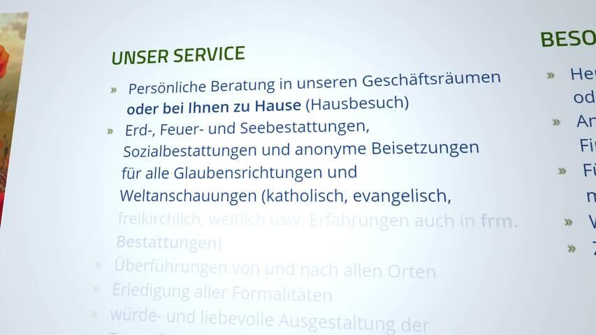 Video 1 Bestattungshaus Friedrich oHG