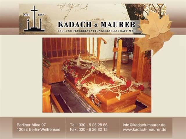 Video 1 KADACH & MAURER Bestattungen GmbH