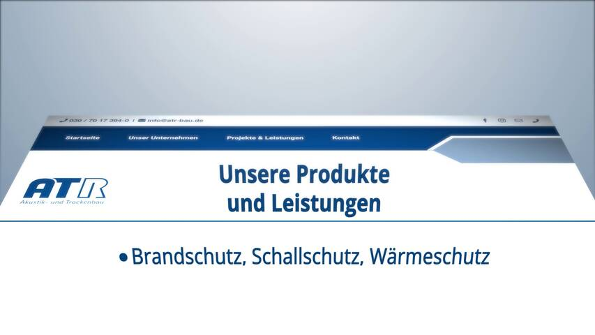 Video 1 Akustik- u. Trockenbau Raphael Raber GmbH
