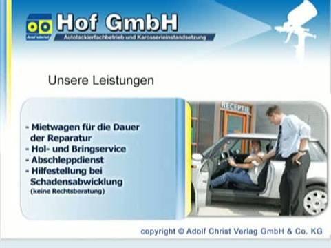 Video 1 Hof GmbH Autolackiererei