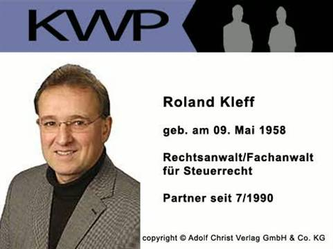 Video 1 Steuerberater/Rechtsanwalt Kleff, vorm Walde & Partner GbR