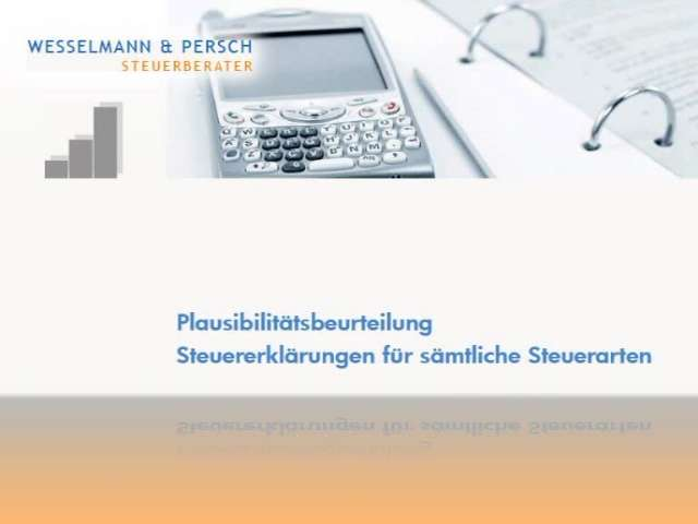 Video 1 Steuerberater Wesselmann Norbert & Persch Thomas