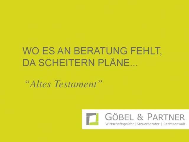 Video 1 Göbel & Partner mbB Wirtschaftsprüfungsges./Steuerberatungsges.