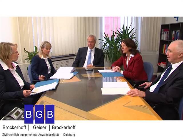Video 1 Rechtsanwälte Brockerhoff & Geiser