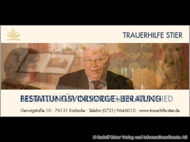 Video 1 Trauerhilfe Stier GbR
