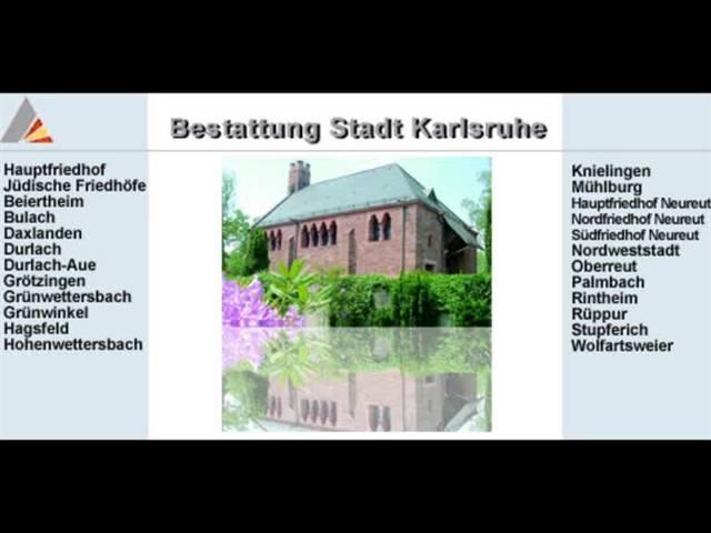 Video 1 Bestattungsinstitut der Stadt Karlsruhe