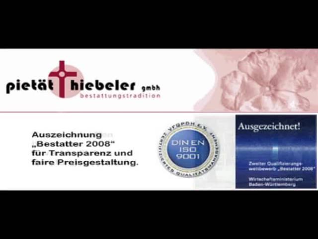 Video 1 Bestattungen Hiebeler GmbH