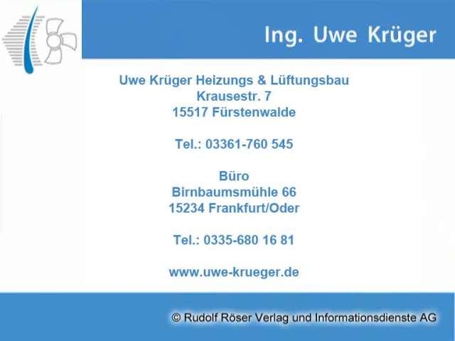 Video 1 Heizanlagen-Bad-Lüftung Solar - Ing. Krüger Uwe