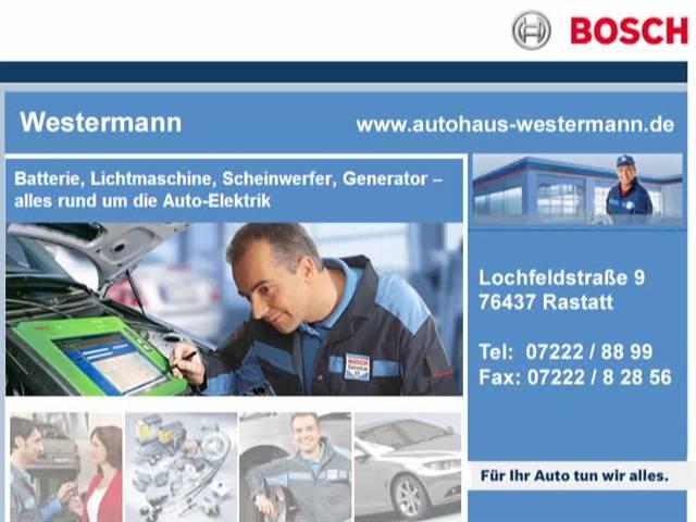 Video 1 Westermann, Kfz-Werkstatt Bosch Service