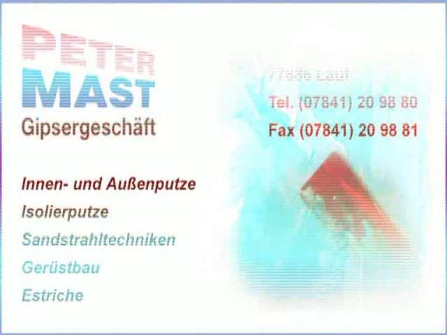 Video 1 Mast Peter