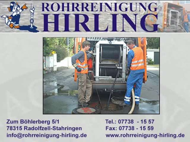 Video 1 Rohrreinigung Hirling