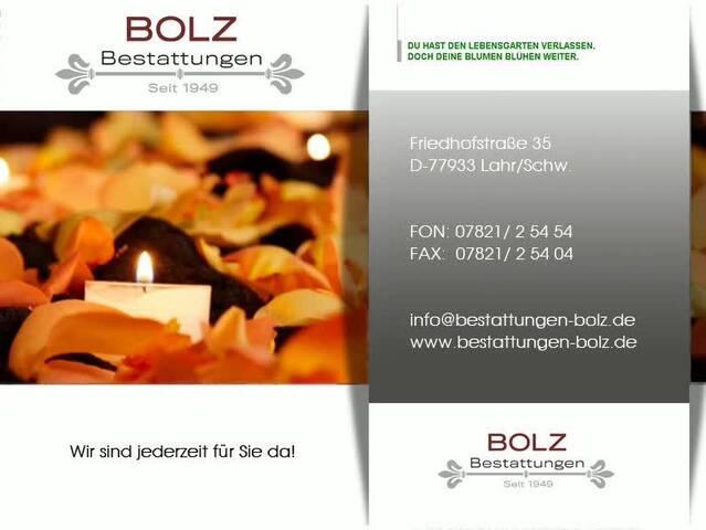 Video 1 Bestattungsinstitut Bolz GmbH