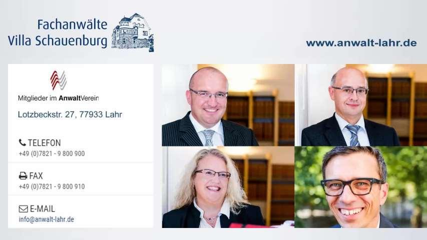 Video 1 Fachanwälte Villa Schauenburg