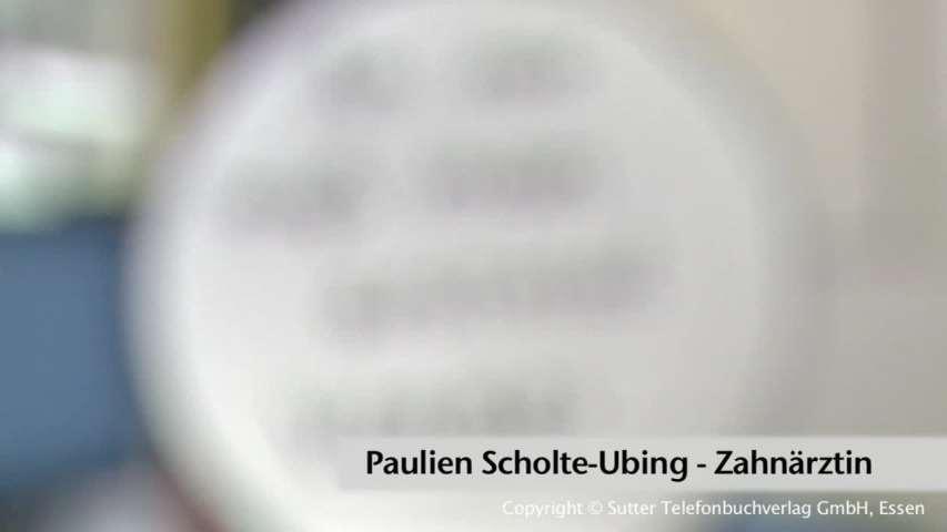 Video 1 Scholte Ubing, Paulien
