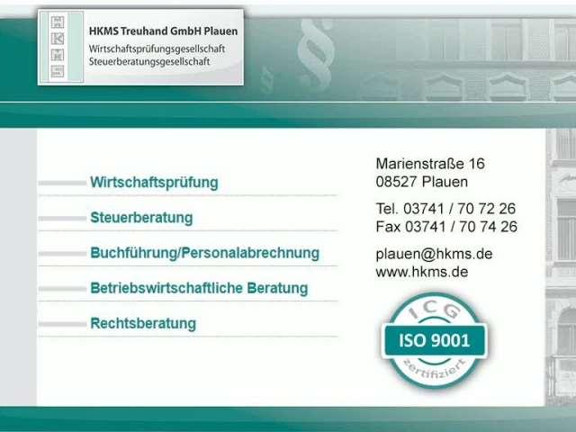 Video 1 Steuerberater und Wirtschaftsprüfer HKMS Treuhand GmbH Plauen